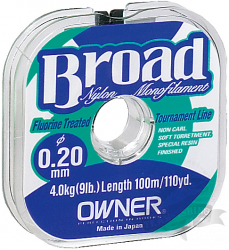 Леска рыболовная OWNER BROAD Premium 100 m