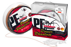 Шнур Power Phantom 8x PE Spider 135м оранжевый