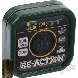 Поводок карповый Carp Spirit REACTION BRAID 20M CAMO GREEN