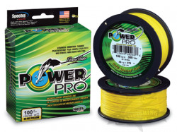 Шнур плетеный Power Pro  Hi-Vis Yellow  92м