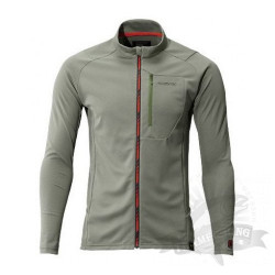 Футболка MS Full Zip Shirt (long sleeve) SH-001N Серый Хаки