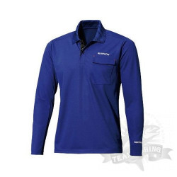 Футболка Polo Shirt (long sleeve) SH-093N Синяя